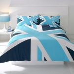 Yorkshire Linen's Blue Union Jack bed sheet